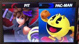 Pit vs Pac Man - Armageddon Expo 2018 Super Smash Bros Ultimate Demo