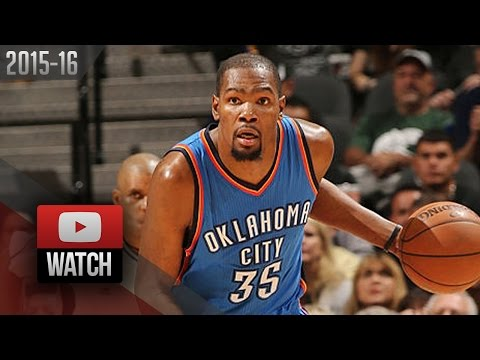 Kevin Durant Full Highlights at Spurs 2016 WCSF G2 - 28 Pts, 7 Reb