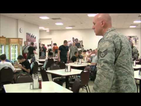Air Force Bmt Zero Week Lunch video