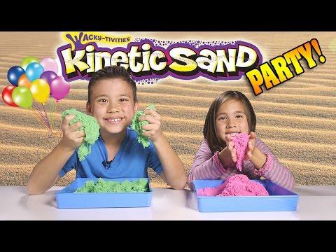 KINETIC SAND PARTY!!! Sand vs. Sand BATTLE!!!