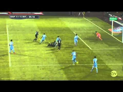 Esteban Cambiasso Goal - Napoli vs Inter Milan 1-1 HD 2013