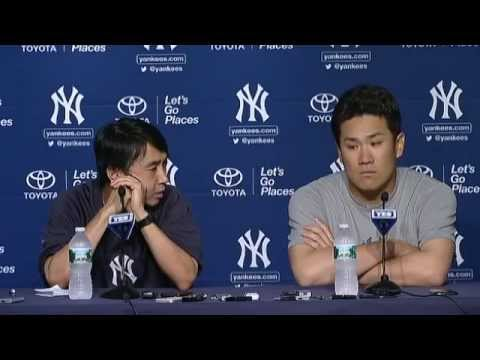 New York Yankees Masahiro Tanaka on his outing against the Blue Jays