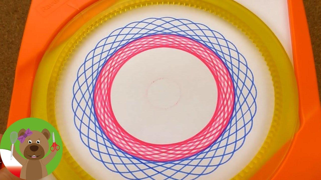 Rysowanie mandali za pomocą spirografu   test flamastrów