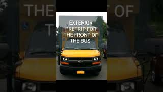 CDL ROADTEST SCHOOL BUS FRONT EXTERIOR