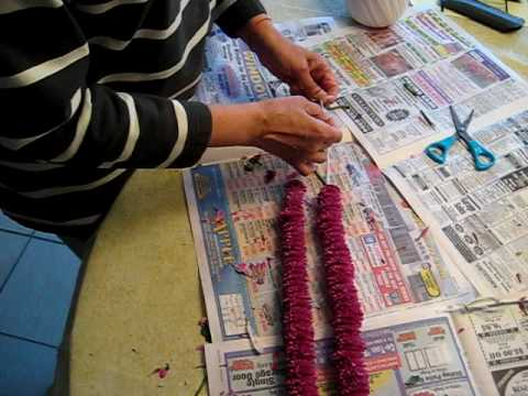 Making a Flower Garland from Scratch