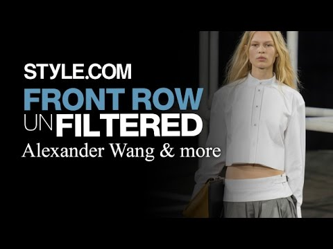 Alexander Wang. Joseph Altuzarra and More - Front Row Unfiltered NYFW Spring 2014 - Style.com