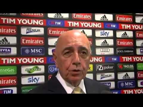VIDEO Milan, Galliani 'Avanti con Allegri'