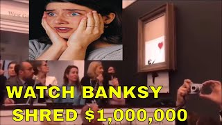 Banksy posts video of £1m painting shredding stunt at Sotheby's | AUCTION PAINTING 'SELF-DESTRUCTS'