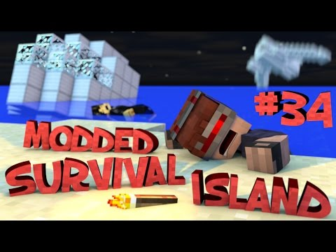 Survival Island Modded - Minecraft: Building The Attic Part 34