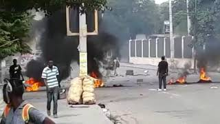 VIDEO: Manifestation Haiti - Zone Faculte de Droit Port-au-Prince 16 Octobre 2018