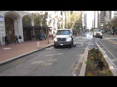 Street Sweeper & Water Truck Department of Public Works Market Street San Francisco California