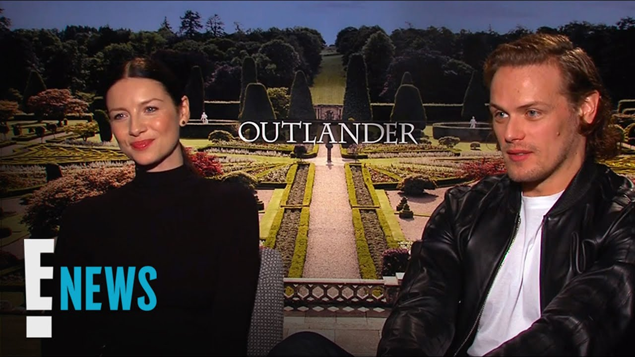"""Outlander"" Stars Sam Heughan and Caitriona Balfe Play Coy 