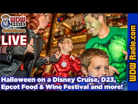 Epcot Food & Wine, Disney Halloween, Disney World Discounts, D23 and more. WDW Radio LIVE