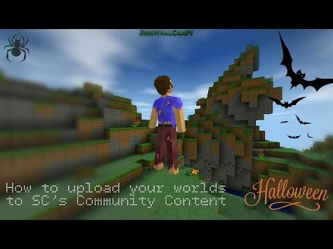 How to upload a world in Survivalcraft (v1.23)