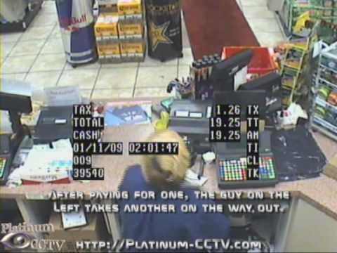 Stupid Criminals - The Brazen Beer Thief on 6 Security Cameras