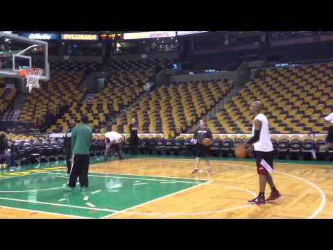 Ray Allen firing 3s before Celtics Heat Sunday morning
