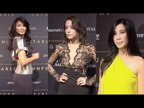 Unforgetable Gala 2015 Chloe Bennet, Kelly Hu, Steven Yeun, Lisa Ling ARRIVALS thumbnail