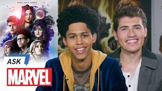 Rhenzy Feliz & Gregg Sulkin Answer Your Marvel's Runaways Questions | Ask Marvel