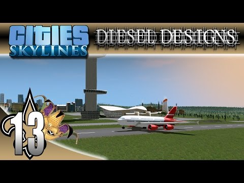 Cities: Skylines: S4E13: New Airplane and Cargo Ship Vehicle Assets! (City Building Series)