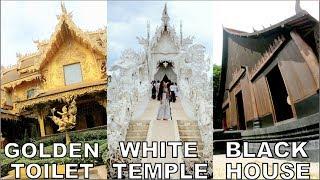 CHIANG MAI VLOG: White Temple | Black Temple | Golden Toilet | Jane Fashion Travels