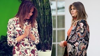 Melania Trump wore a $ 2,500 dress that was compared to a curtain hanging the door on Presidents Day