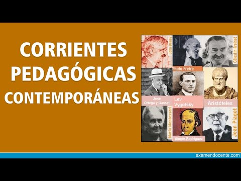 Corrientes pedagógicas contemporáneas.