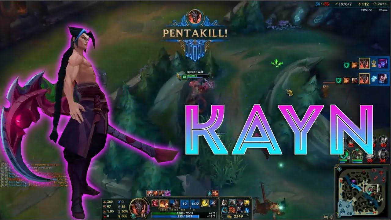 Kayn Montage 1 - Best Kayn Plays Compilation - League of Legends