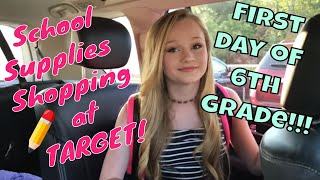 School Supplies HAUL at Target & First day of Middle School | Princess Ella