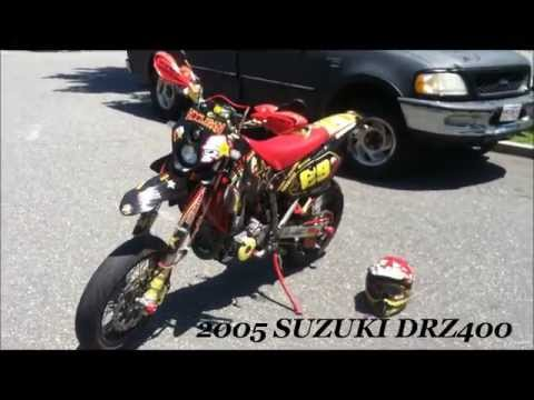 SUZUKI DRZ400S  DRZ400SM ROCKSTAR SUPERMOTO WALK AROUND