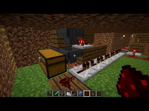 Minecraft Tutorial - Automatic Potato Farm - Automatic Replanting!(Minecraft 1.8+)