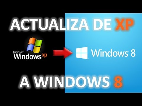 Actualizar de Windows XP a Windows 8