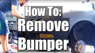 HOW TO REMOVE AN INTEGRA FRONT  BUMPER