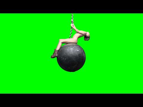 Miley Cyrus Naked on Wrecking Ball Green Screen HD