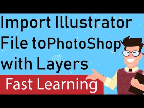 How do I import Illustrator layers into Photoshop?