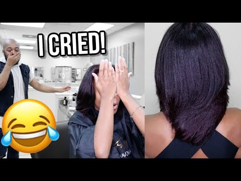 Come To The Salon With Me! (NATURAL HAIR SILK PRESS + TRIM)