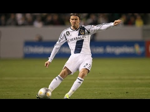 David Beckham (LA Galaxy) finds room to send in a swirling blast and hits the upper 90 for a goal, which seals a 3-1 victory at home to the Portland Timbers....