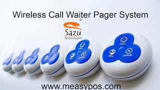 Wireless Call Waiter Pager System