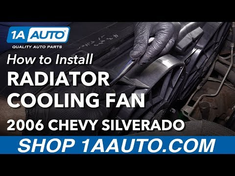 How to Install Replace Radiator Dual Cooling Fan Assembly 2005-06 Chevy Silverado V6 4.3L