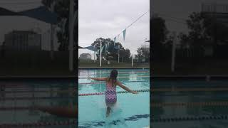 Slow mode jump into pool