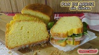 PAN DE ARROZ SIN GLUTEN, Especial para Celíacos, fácil, saludable y delicioso