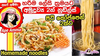 Quick & Easy homemade noodles by Apé Amma