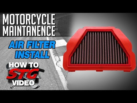 BMC Air Filter Installation from SportbikeTrackGear.com