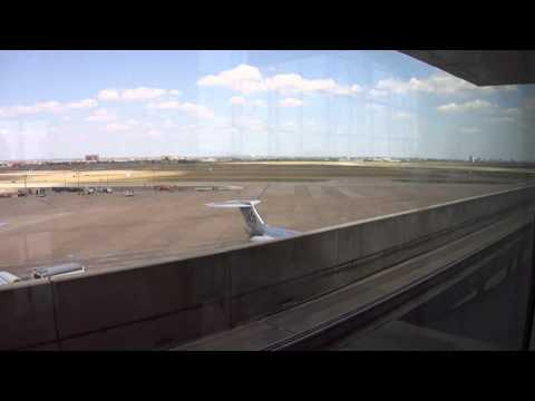 Skylink DFW - Dallas Fort Worth International Airport - Tren en el aeropuerto p1/2