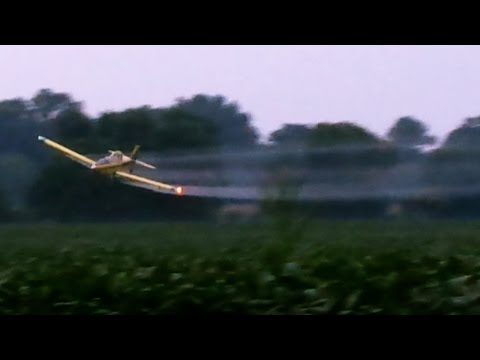 Crop Duster Plane. Incredibly Talented Stunt Pilot!