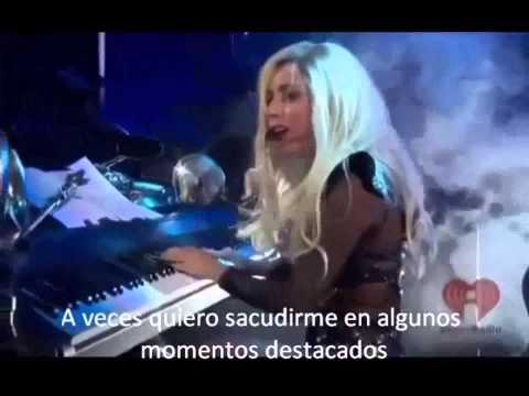 Lady Gaga 'Hair' tributo a  Jamey Rodemeyer Festival I Heart Radio Sub Español