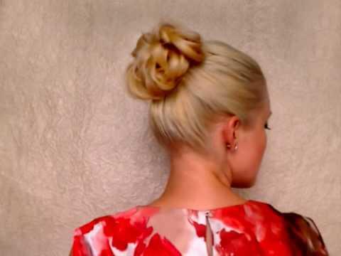 Easy Wedding Updo For Long Hair Свадебная прическа своими руками