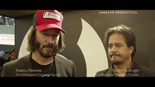 "Keanu Reeves and Gard Hollinger ""If your bike has a soul"" ARCH Motorcycle Company Interview EICMA"