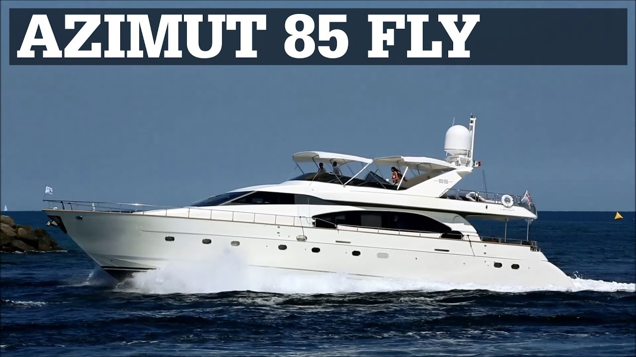 azimut 85 flybridge in motion