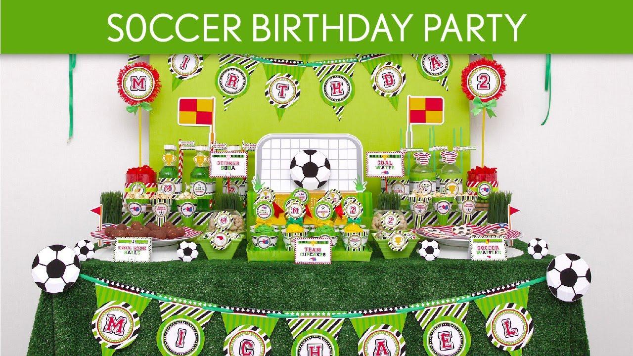 Soccer Birthday Party Ideas B61 YouTube