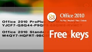 Microsoft Office 2010 Working Product Key [UPDATED SEPTEMBER 2016]Professional Plus Free Activation